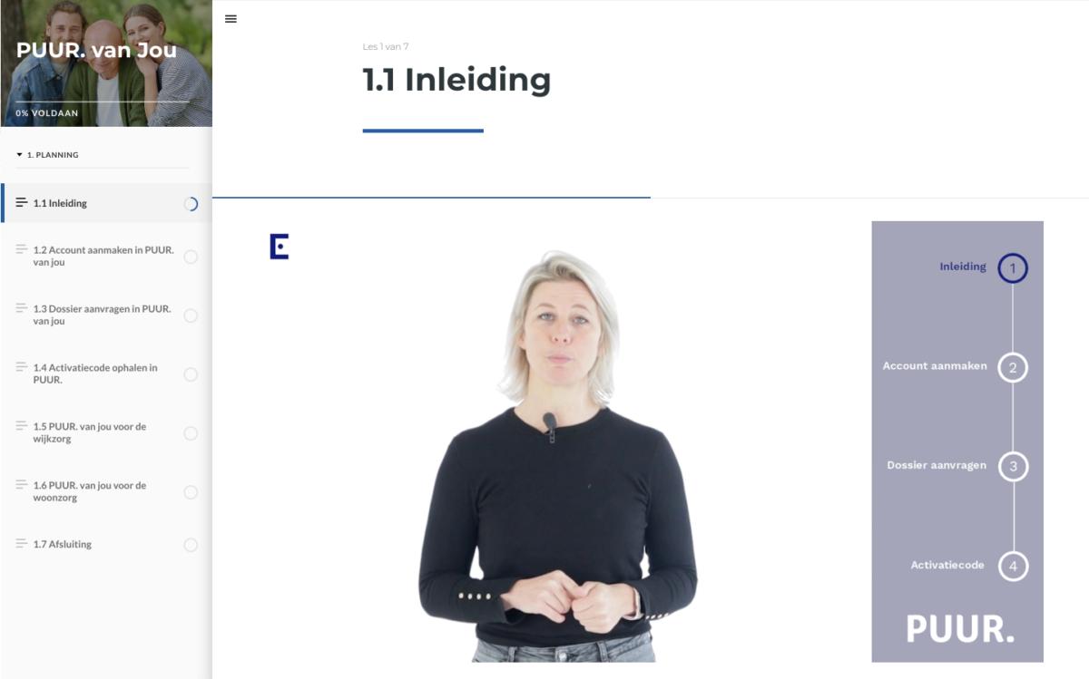 e-learning via video